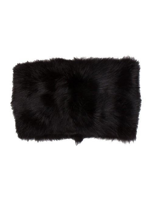 Marni Fox Fur Snood Black