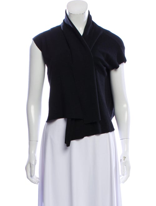 Marni Sleeveless Open-Front Cardigan Black
