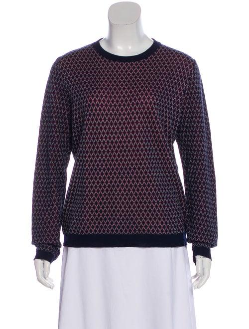 Marni Argyle Lightweight Sweater Navy