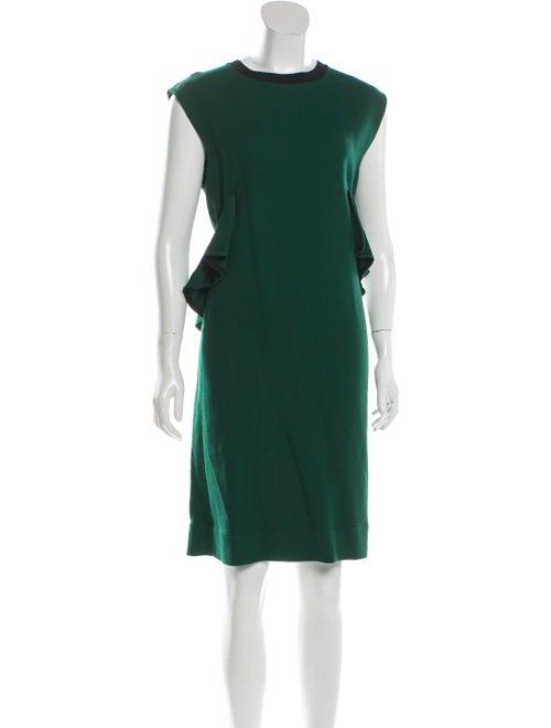 Marni Ruffle-Accented Shift Dress black