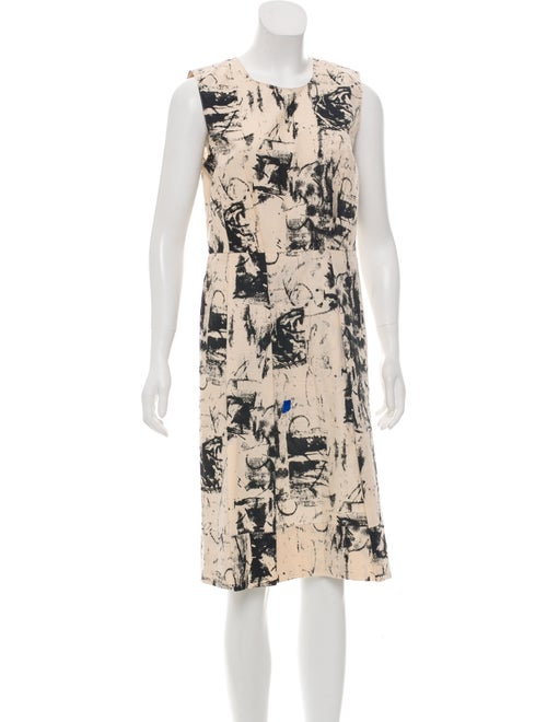 Marni Watercolor Midi Dress black