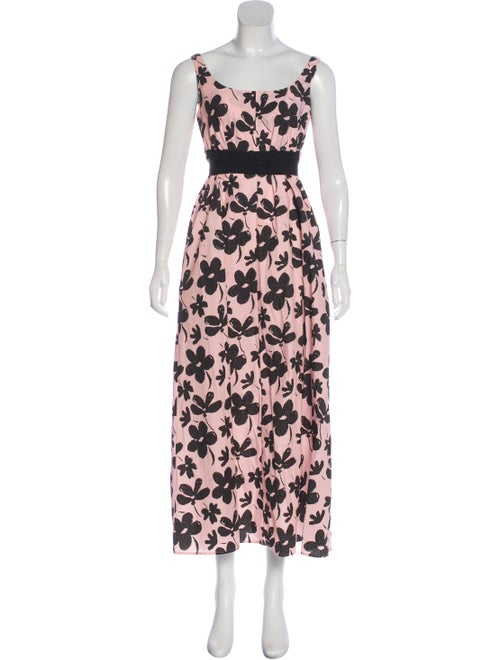 Marni Printed Maxi Dress Pink