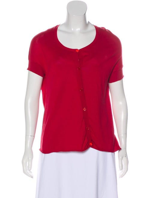 Marni Lightweight Short Sleeve Cardigan Red