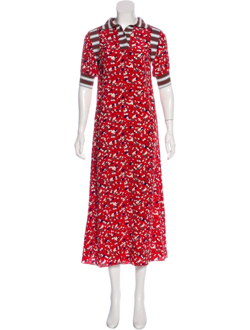 Marni Printed Maxi Dress Red