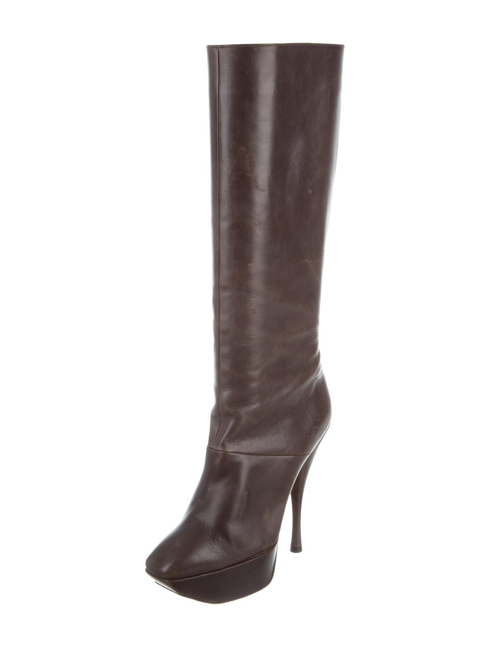 Marni Leather Knee-High Boots Brown - image 2