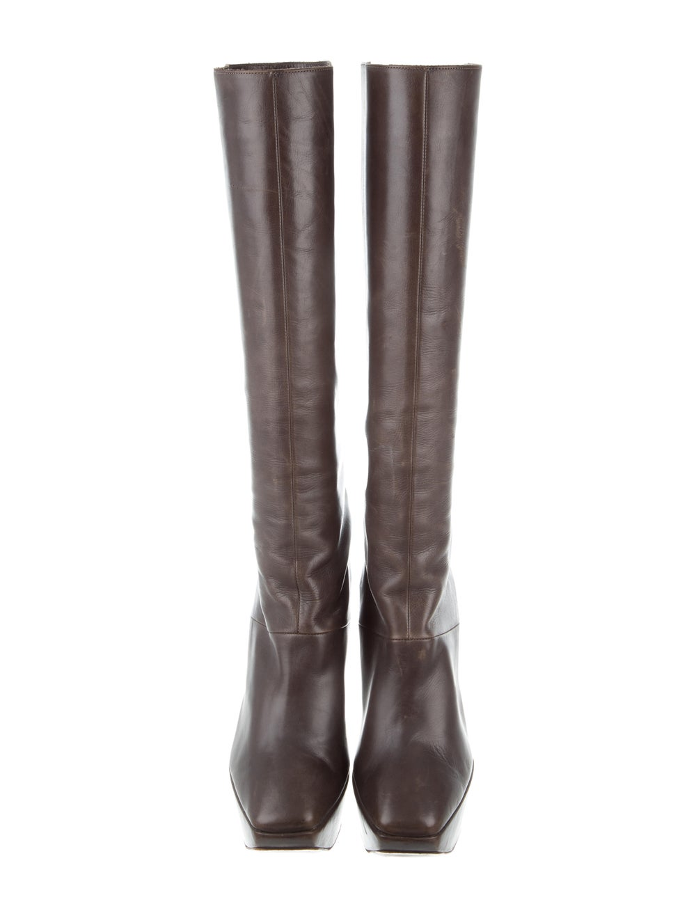 Marni Leather Knee-High Boots Brown - image 3
