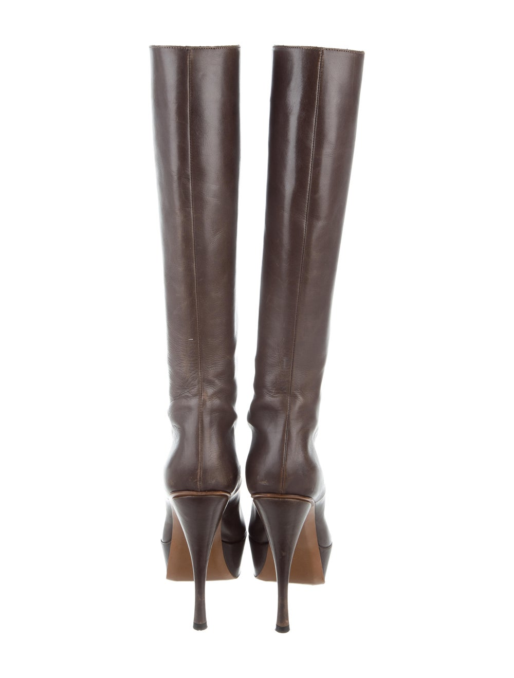 Marni Leather Knee-High Boots Brown - image 4