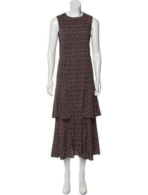 Marni Printed Maxi Dress Grey