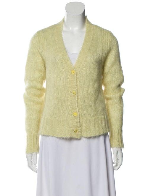 Marni Mohair Lightweight Cardigan Yellow