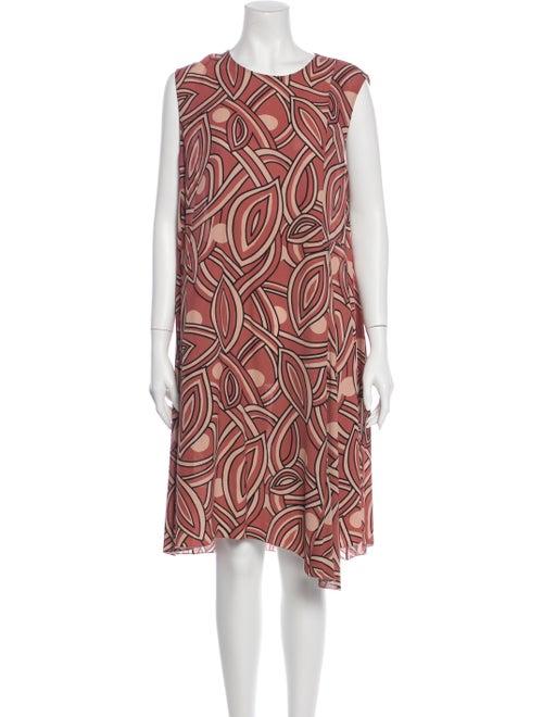 Marni Abstract Printed Dress multicolor