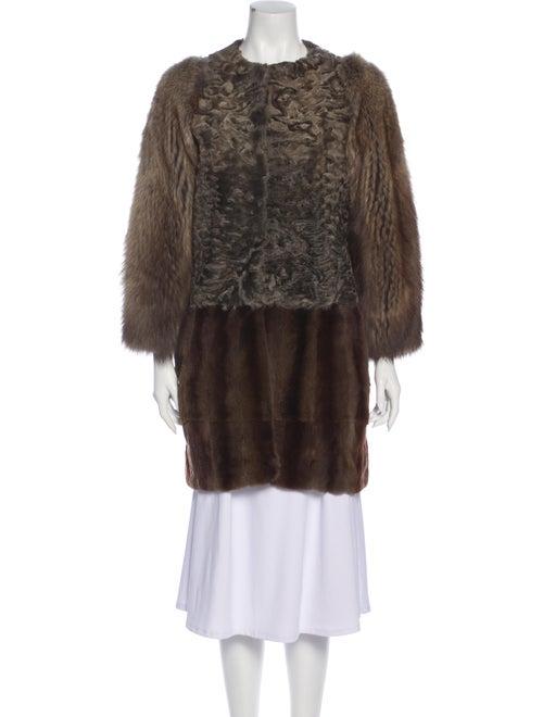 Marni Fur Coat Brown