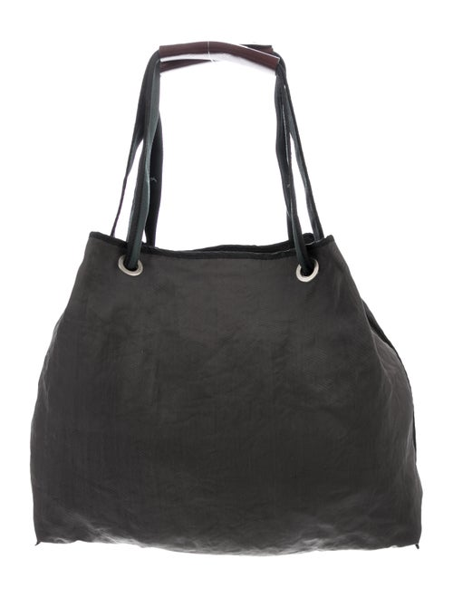 Marni Leather-Trimmed Tote Grey