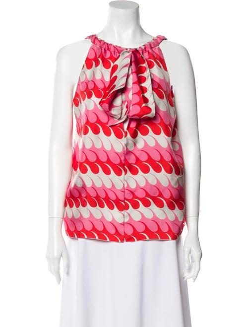 Marni Silk Printed Blouse Pink