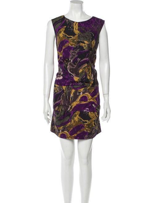 Marni Printed Mini Dress Purple
