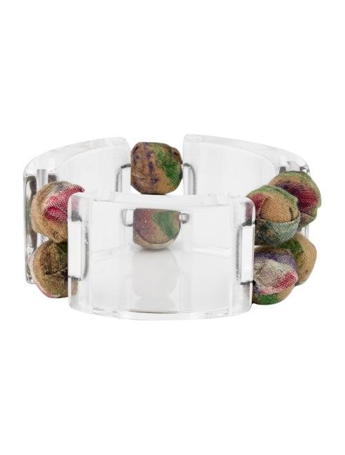 Marni Resin & Fabric Bead Bracelet