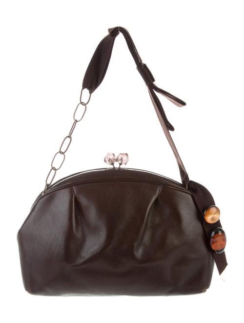 Marni Vintage Leather Shoulder Bag gold