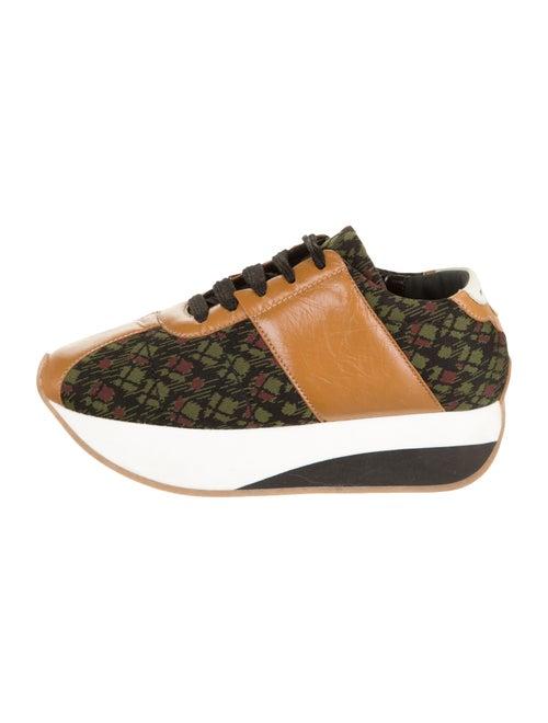 Marni Platform Printed Sneakers Black