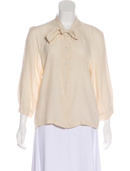 Marni Long Sleeve Button-Up Blouse