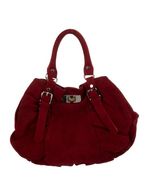 Marni Velvet Handle Bag Red