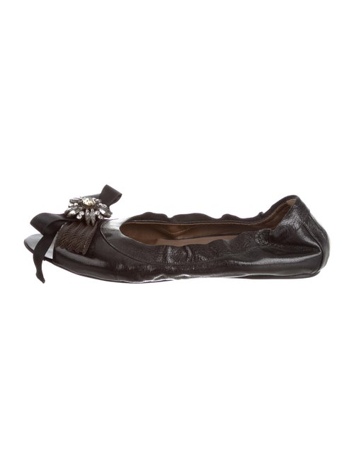 Marni Leather Ballet Flats Black