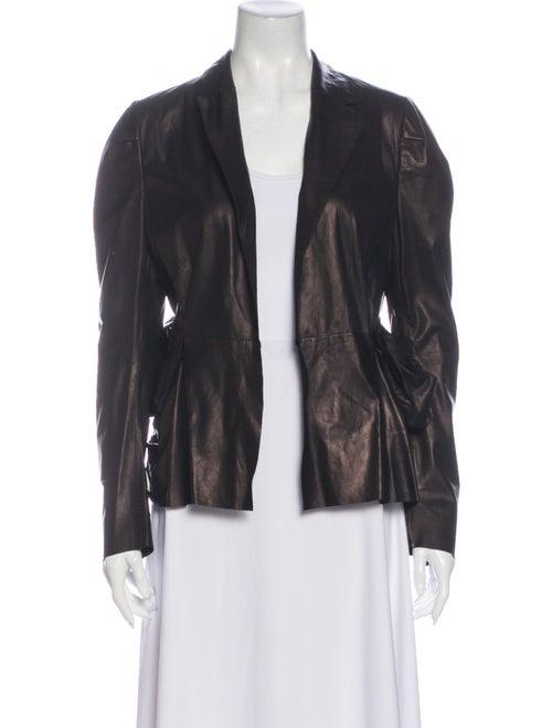 Marni Leather Blazer Black