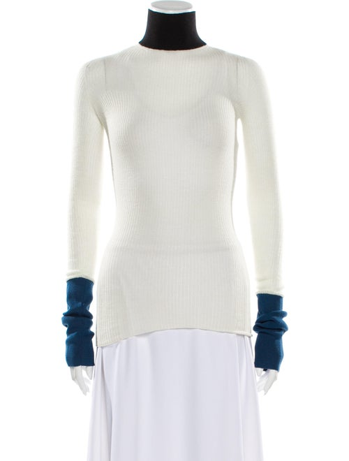 Marni Turtleneck Long Sleeve Top White