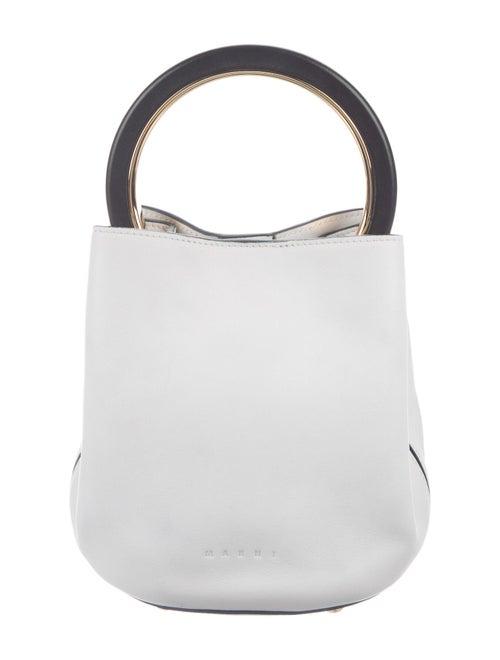 Marni Pannier Leather Handle Bag White