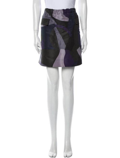 Marni Printed Mini Skirt Blue