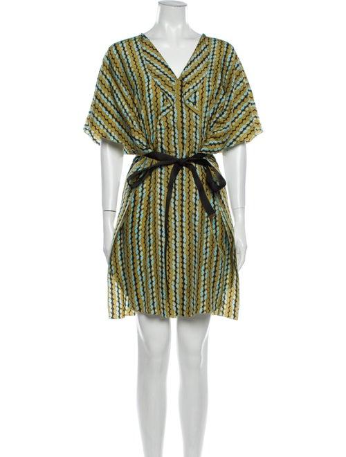 Marni Silk Mini Dress Green