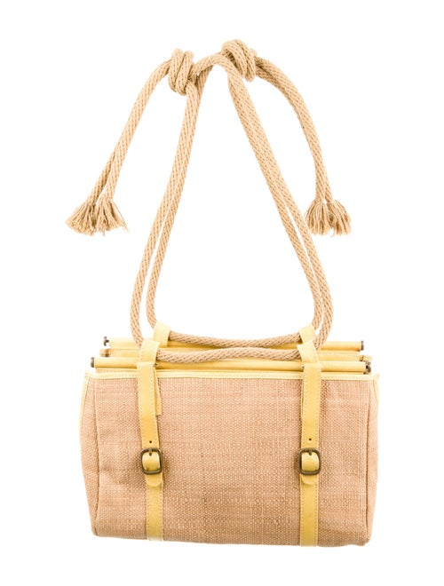 Marni Straw Knotted Rope Shoulder Bag Brass
