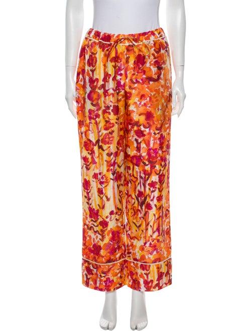 Marni Silk Wide Leg Pants w/ Tags Orange