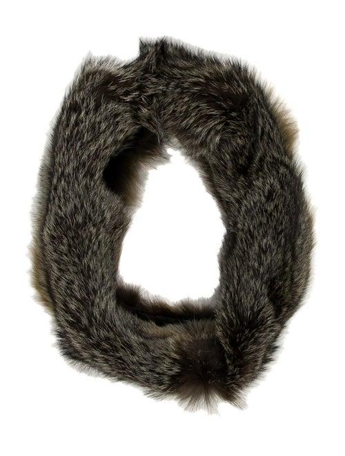Marni Fox Fur Snood Tan