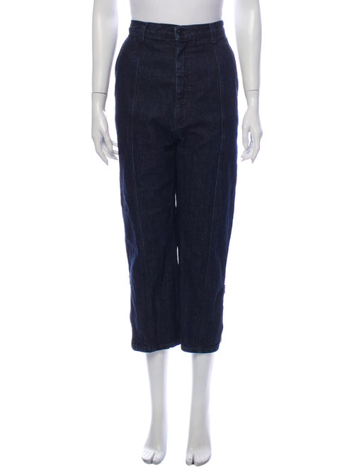 Marni High-Rise Straight Leg Jeans Blue