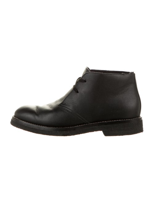 Marni Leather Lace-Up Boots Black
