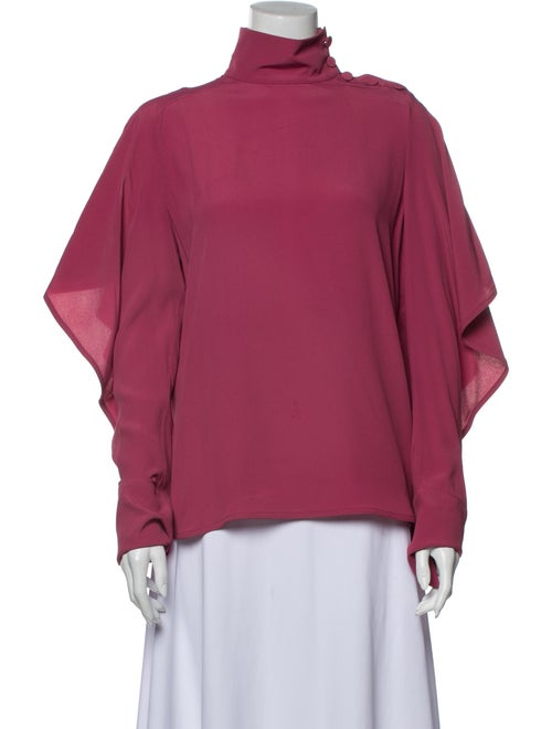 Marni Turtleneck Long Sleeve Sweatshirt Pink