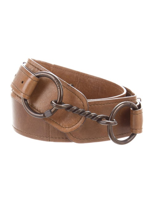 Marni Leather Hip Belt Brown