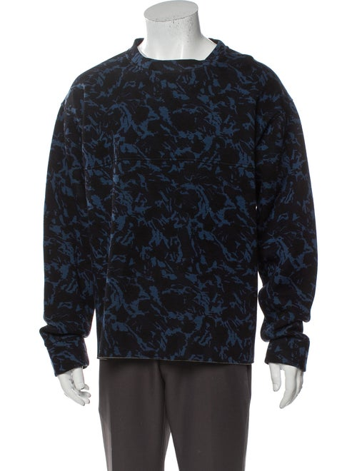 Marni Printed Crew Neck Sweatshirt Black