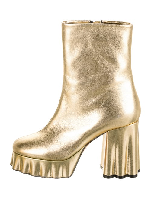 Marni Leather Boots Gold