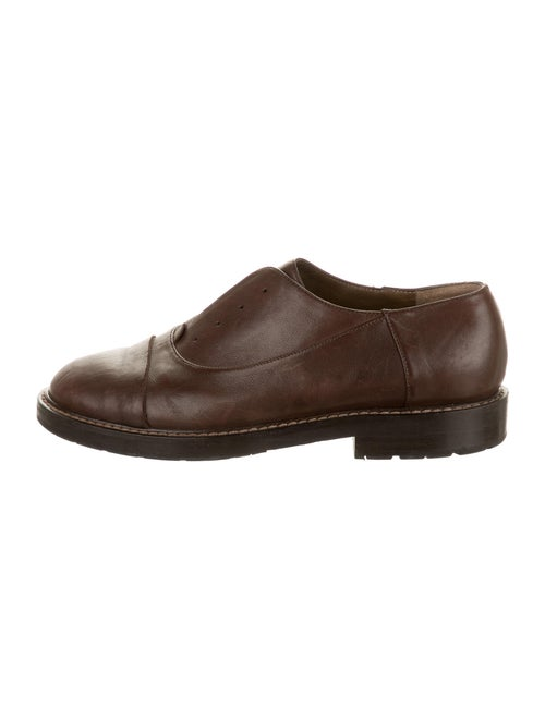 Marni Leather Oxfords Brown