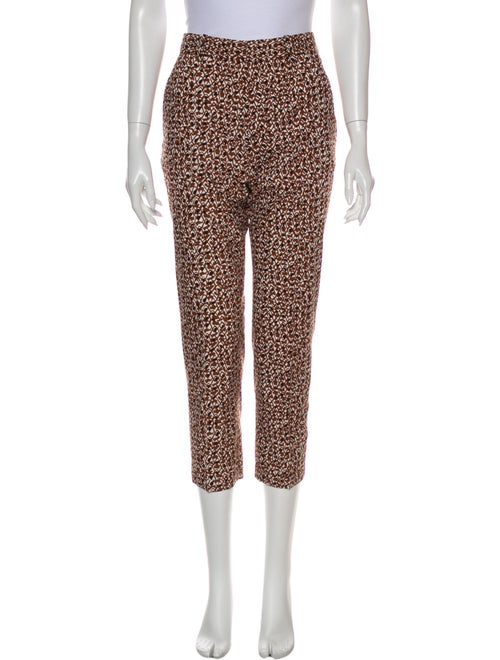 Marni Printed Straight Leg Pants Brown