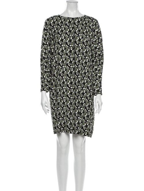 Marni Floral Print Mini Dress Black
