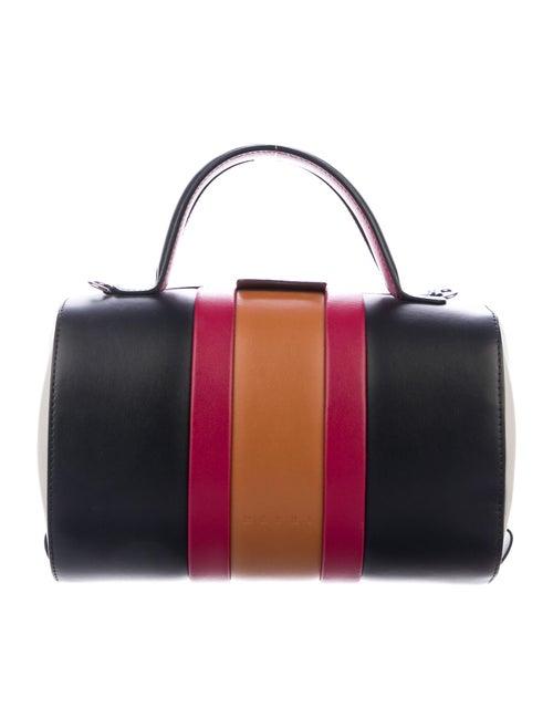 Marni Cylinder Leather Satchel Black