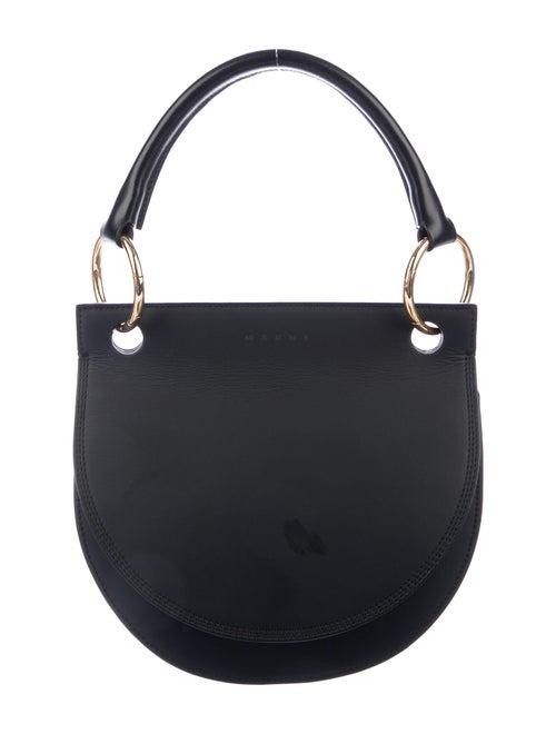 Marni Saddle Leather Crossbody Bag Black