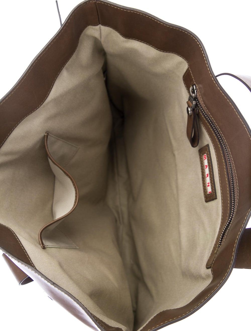 Marni Leather Tote Brown - image 5