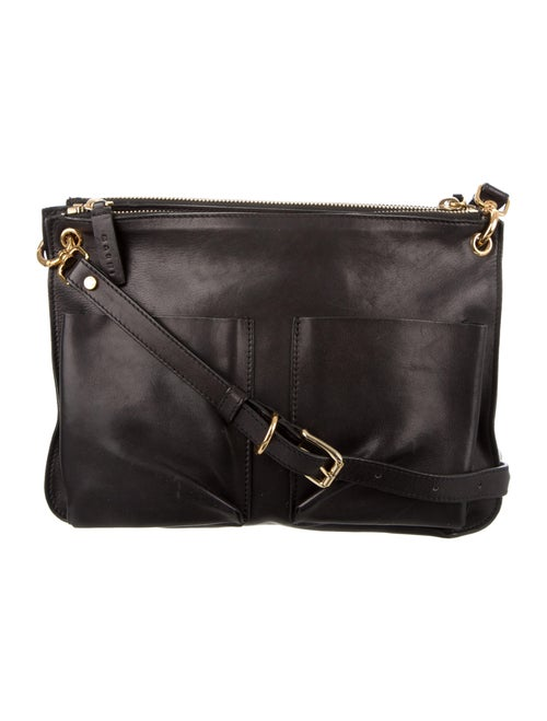 Marni Leather Crossbody Bag Black