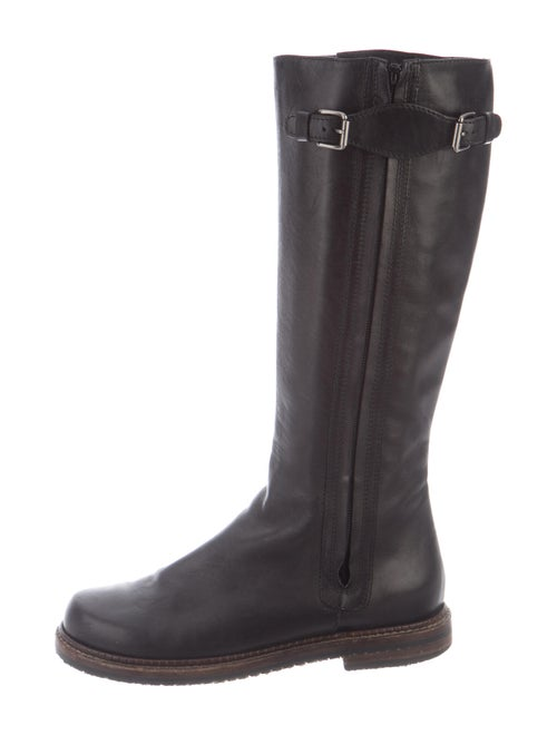 Marni Leather Riding Boots Black