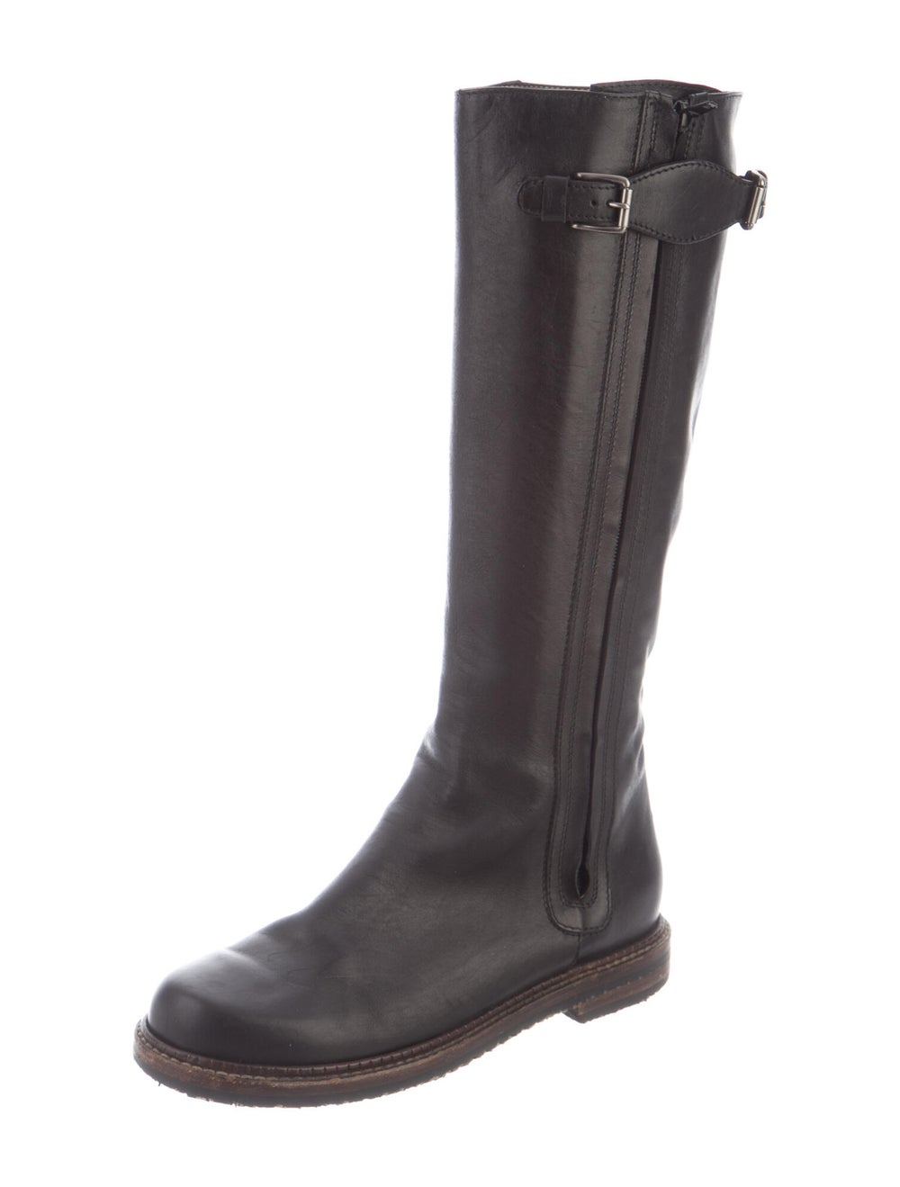 Marni Leather Riding Boots Black - image 2
