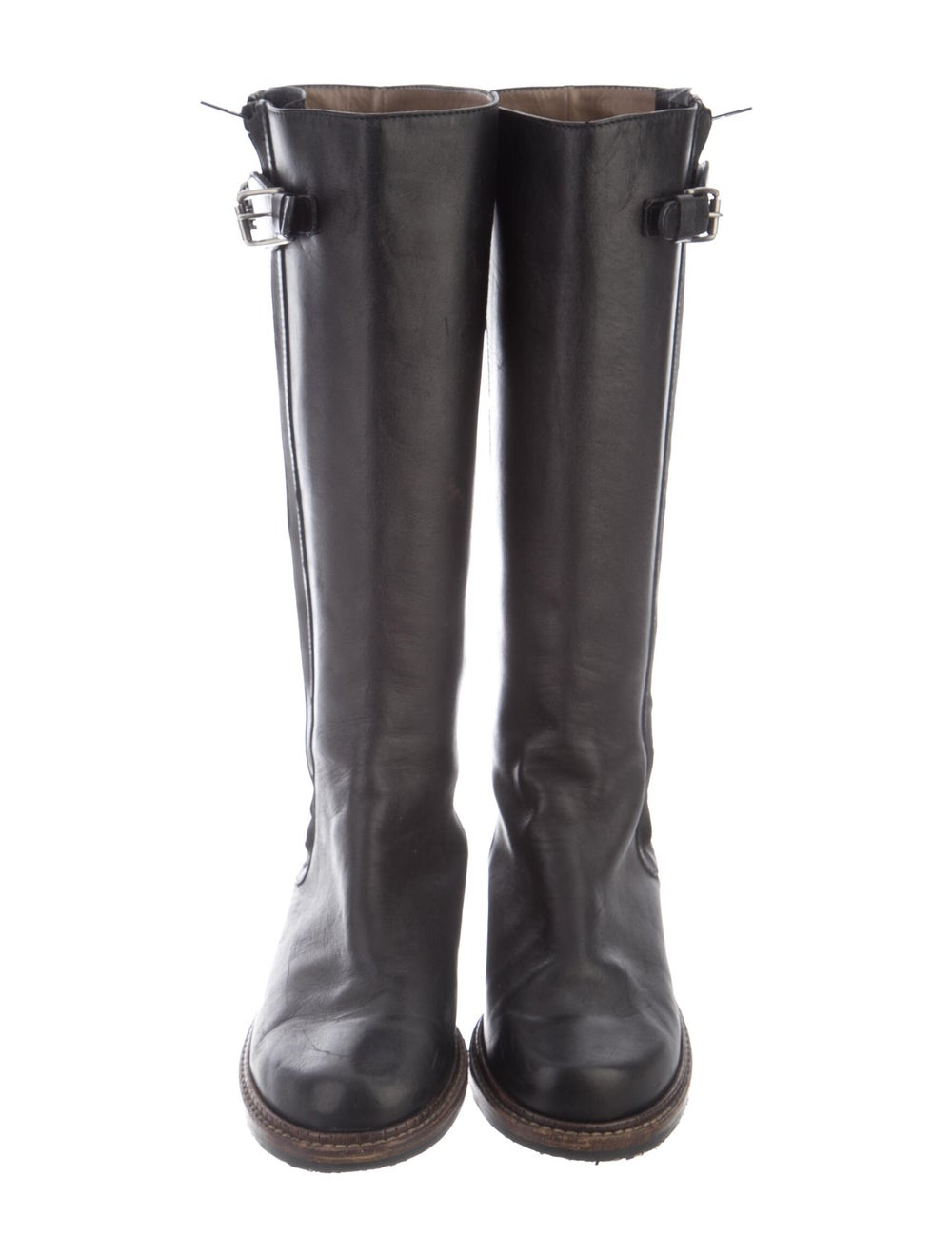 Marni Leather Riding Boots Black - image 3
