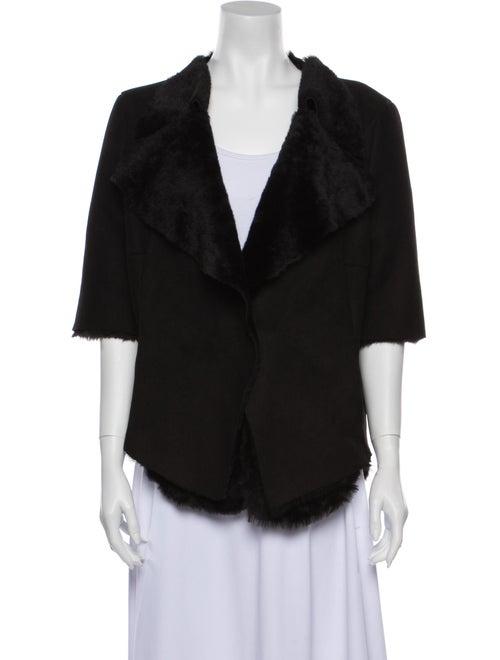 Marni Shearling Evening Jacket Black