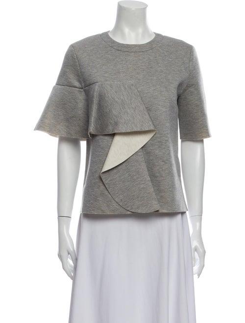 Marni Crew Neck Short Sleeve Sweatshirt Grey